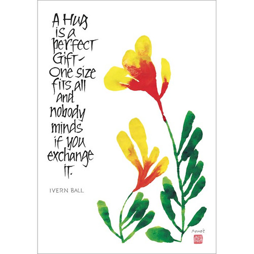 A Hug Is a Perfect Gift (blank inside) Greeting Card