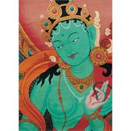 Green Tara Detail Greeting Card