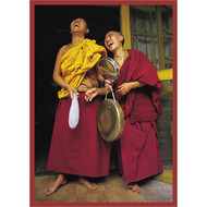 Two Nuns Laughing Greeting Card