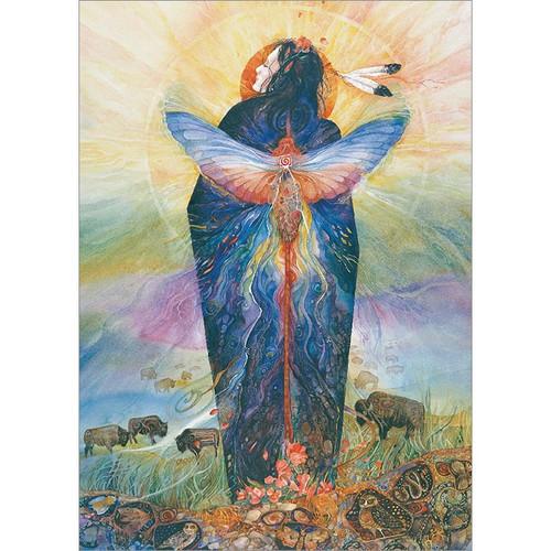 Prairie Sphinx Woman Greeting Card