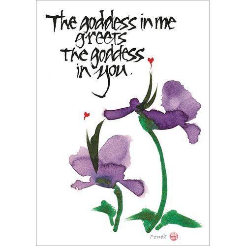 Goddess in You Greeting Card