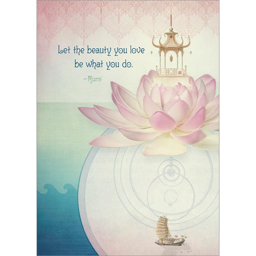 Let the Beauty You Love Greeting Card
