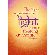 The Light in Me Greeting Card