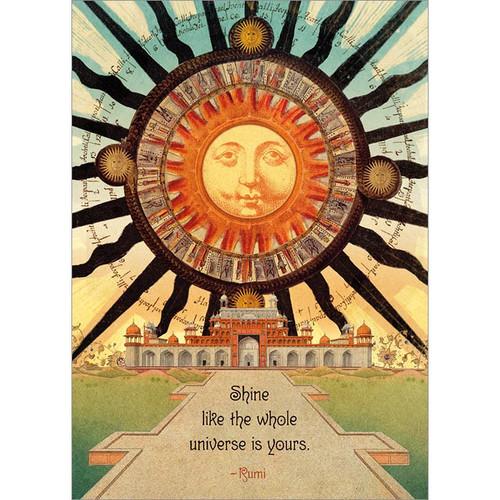 Shine Rumi Greeting Card