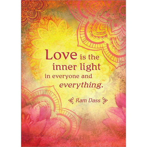 Love Is the Inner Light Greeting Card