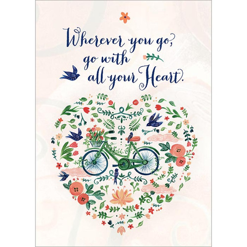 Go With All Your Heart Greeting Card
