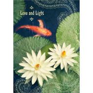 Love and Light Koi Greeting Card