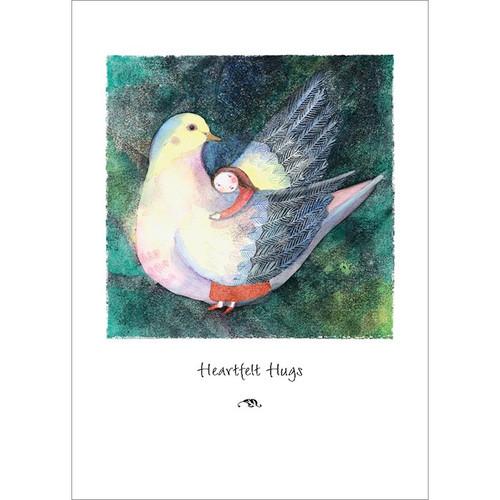 Feathered Hug Greeting Card