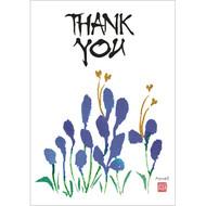 Thank You Blue Petals Greeting Card