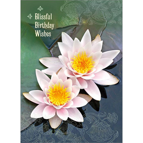 Blissful Birthday Wishes Greeting Card