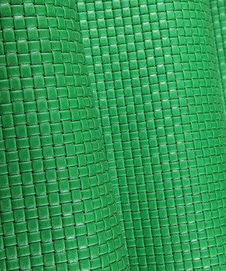 Basket Weave Kelly Green