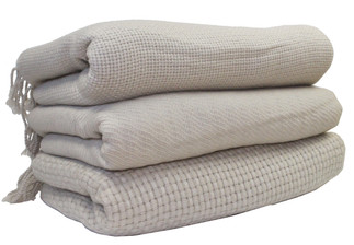 Cashmere Throw, Small Basket Weave Pattern