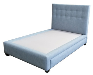 D5409 Button Tufted Trundle Bed