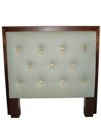 9029 Cubist Headboard with Pulled Buttons