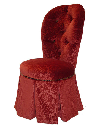 V5605 Tufted Vanity Chair