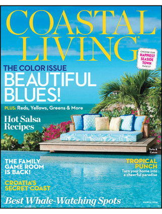 Coastal Living Magazine March 2014