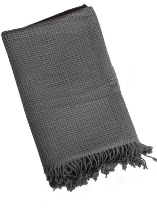 Charcoal Basket Throw