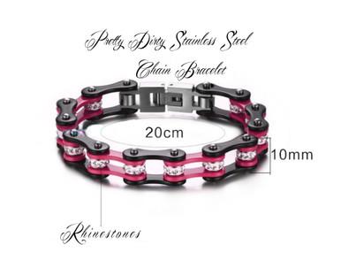 Pretty Dirty Girls Off Road Motorcyle Chain Bracelet.