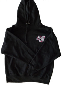 Black and Pink Women's Pretty Dirty Off Road Heart Hoodie