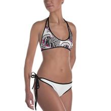Dirty Heart Bikini - White w/ Black Piping