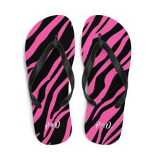 Pretty Dirty Zebra Flip-Flops