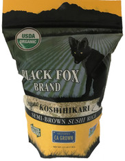 Black Fox Organic Semi-brown Koshihikari Rice (2.2 lb bag)