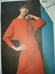 1960s JACQUES HEIM Dolman Sleeve Dress Pattern Bateau Neckline Sizzling Style Vogue Paris Original 1513 Vintage Sewing Pattern Bust 32