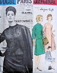 1960 GRIFFE SUIT DRESS, COAT, SCARF PATTERN FITTED JACKET, GORED SKIRT, FLARED COAT TOTALLY CLASSY STYLE VOGUE PARIS ORIGINAL PATTERNS 1209