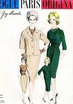CLASSY 1960 Slim Suit and Blouse Pattern Guy Laroche VOGUE PARIS ORIGINAL 1026  Daytime or Evening Elegance  Bust 34 Vintage Sewing Pattern
