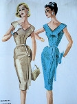 1960 WIGGLE COCKTAIL DRESS PATTERN HANNAH TROY DESIGN McCALLS 5412