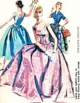 1950s Beautiful Evening Gown or Cocktail Dress with Jacket Pattern McCalls 3361 Low Wide Neckline Dress in Formal Floor or Shorter Party Length Fitted Jacket VIntage Sewing Pattern