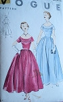 1950s GOWN  PATTERN 2 LENGTHS VOGUE 3499
