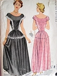1940s EVENING DRESS PATTERN  McCALL 7438