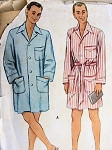 RESERVED1950s Mens Short Bathrobe or Sleeping Coat Robe Pattern McCall 8338