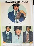 1970s GENTLEMENS REVERSIBLE TIE, ASCOT PATTERN VERY WARREN BEATTY STYLE McCALLS 3434