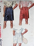 1950s MENS SHORTS PATTERN 2 LENGTHS, TENNIS SHORTS  SIMPLICITY 3269