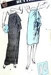 1940s Elegant Draped Skirt Pattern Daytime or Evening Length Supple Cascade Side Draping Butterick 2908