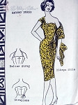 RARE 60s Vintage Polynesian Pattern 108 Hawaiian Sizzling Sarong Evening Cocktail Dress Pattern Halter Strap or Strapless With Kikepa Stole Stunning Design Bust 36 FACTORY FOLDED