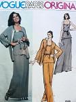 1970s Nina Ricci Elegant Evening Jacket, Top, Skirt and Pants Pattern Classic Styles Vogue Paris Original 1535 Vintage Sewing Pattern Factory Folded Bust 31.5