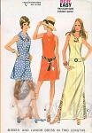 1970s KeyHole Neckline Dress In 2 Lengths Pattern Three Style Versions Very Easy McCalls 2403 Vintage Sewing Pattern UNCUT Bust  32.5
