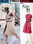 1960s Patou Dress Pattern Shaped Blouson Top a Line Skirt, Front  Inverted Pleat Classy Style Vogue Paris Original 1444 Vintage Sewing Pattern Bust 32