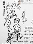 1950s Gorgeous Evening Dress and Jacket Pattern Strapless Fitted Bodice ,Very Full  Skirt, Wrap n Tie Short Jacket Stunning design By Martini Diminutive Spadea 2065 Vintage Sewing Pattern Factory Folded  Bust 34
