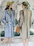 1940s War Time WW II Boxy Coat Pattern Fabulous Tailored Design Joan Crawford  Style McCall 4591 Vintage Sewing Pattern Bust 32