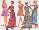 1970s Peasant Dress or Maxi Boho Lolita Style Simplicity 9403 Vintage Sewing Pattern UNCUT Bust 32