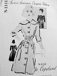 1960s Jo Copeland Indispensable Dress Pattern Wide Collar, Front Button Gentle Bell Shape Skirted , Cummerbund  Spadea American Designer 1141 Vintage Sewing Pattern Bust 34