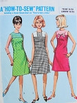 1960s Cute Sheath Dress Pattern Simple To Sew How To Sew Pattern Simplicity 6346 Vintage Sewing Pattern Bust 30 UNCUT