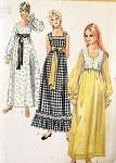 Vintage 70s Maxi Peasant Dress Bolero Pattern Empire Waist Square Neckline Simplicity 9259 Bust 34 Vintage Sewing Pattern  FACTORY FOLDED Kawaii Cute