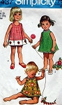 Vintage Toddlers Girls Cute Top 3 Necklines and Bloomers Pattern Sweet Styles Simplicity 9437 Vintage Sewing Pattern UNCUT FACTORY FOLDED