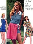 1970s How To Sew Mini Jumpsuit and Wrap Skirt Pattern Cute Romper Hotpants Jumpsuit  Mini Wrap skirt Very Easy To Sew Simplicity 9882 Vintage Sewing Pattern UNCUT FACTORY FOLDED Bust 36