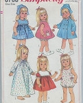1960s 18 Inch Doll Wardrobe Pattern For Susie Sunshine, Baby First Step, Goody Two Shoes Simplicity 6768 Vintage Sewing Pattern UNCUT FACTORY FOLDED